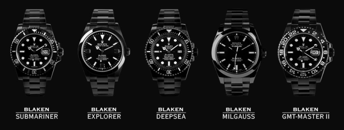 Rolex watch black edition blaken