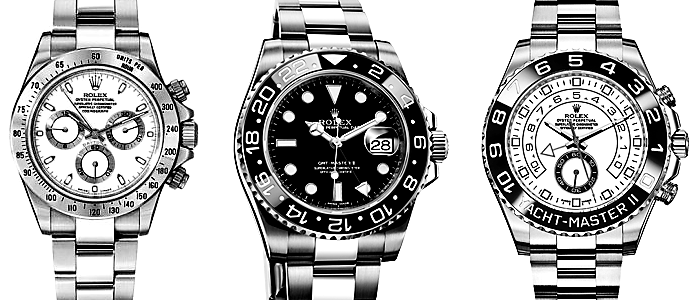 Rolex Watches black white